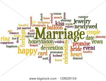 Marriage, Word Cloud Concept 6
