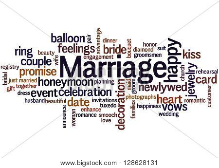 Marriage, Word Cloud Concept 8