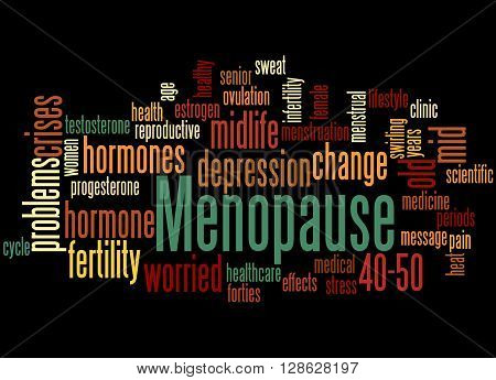 Menopause, Word Cloud Concept 3