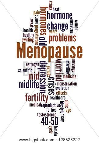 Menopause, Word Cloud Concept 5