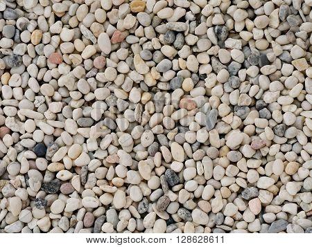 Small white stone gravel background texture. rocky stony pebbles texture.