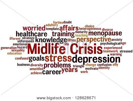 Midlife Crisis, Word Cloud Concept 8