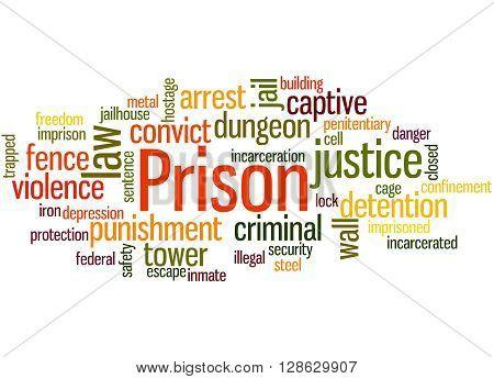 Prison, Word Cloud Concept 6