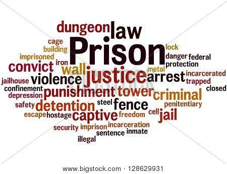 Prison, Word Cloud Concept 7