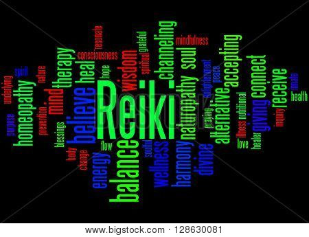 Reiki, Word Cloud Concept