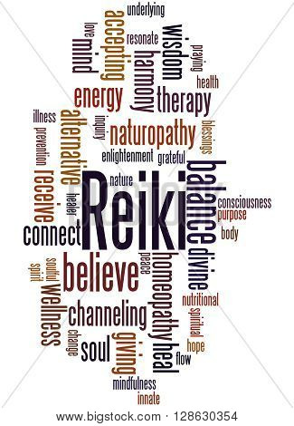 Reiki, Word Cloud Concept 7