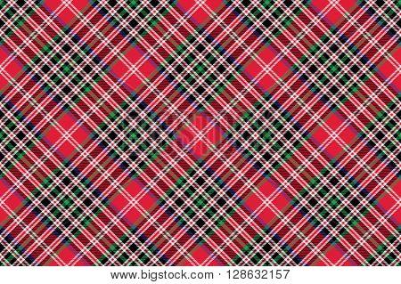 Kemp tartan fabric texture check diagonal pattern seamless .Vector illustration. EPS 10. No transparency. No gradients.