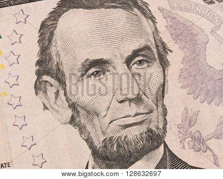 Us Five Dollar Bill, Close Up