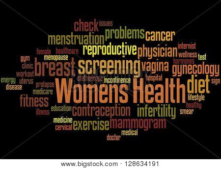 Womens Health, Word Cloud Concept