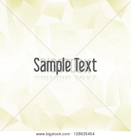 Yellow Paper Creased Pattern With Sample Text Eps10