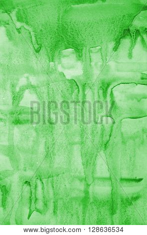 Abstract Green Watercolor On Paper Texture As Background