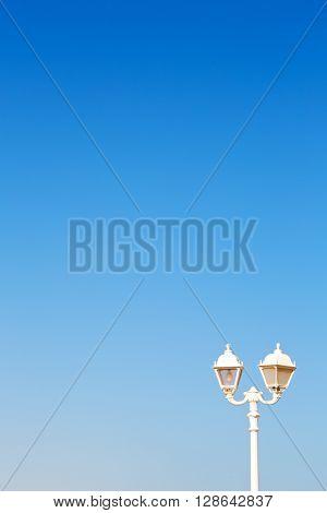 In Oman Old Streetlamp Copyspace