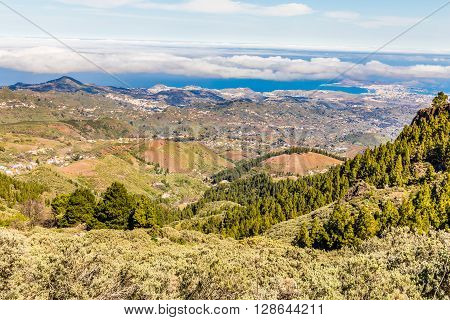 Beautiful View From Pico de las Nieves - Tejeda Gran Canaria Canary Islands Spain