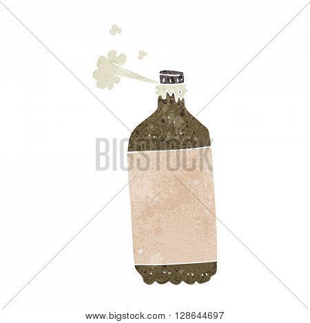 freehand retro cartoon fizzing cola