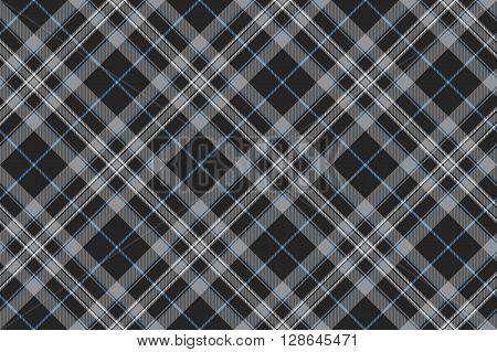 platinum kilt tartan diagonal seamless pattern .Vector illustration. EPS 10. No transparency. No gradients.