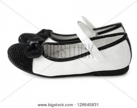 lovely black and white shoes for little girl