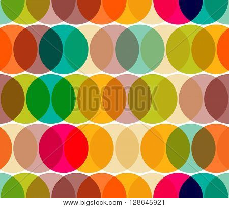 Transparent circles abstract geometric seamless pattern