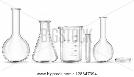 Test-tubes isolated on a white background.  vector illustration.