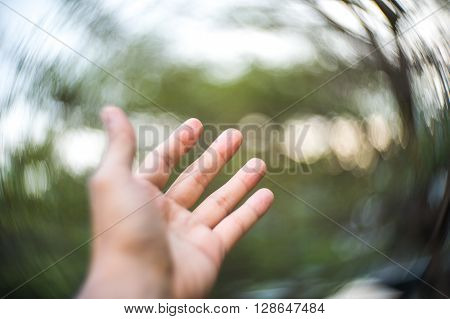 Abstract Hand  And Swirly Bokeh