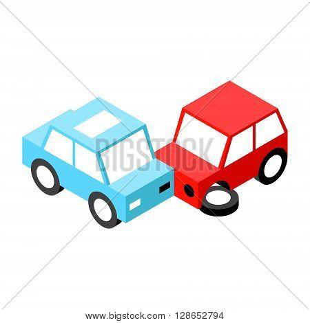 Car accident.Vector illustration. EPS 10. No transparency. No gradients.