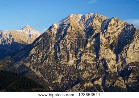 Mountains in Pyrenees, Huesca, Aragon, Spain.