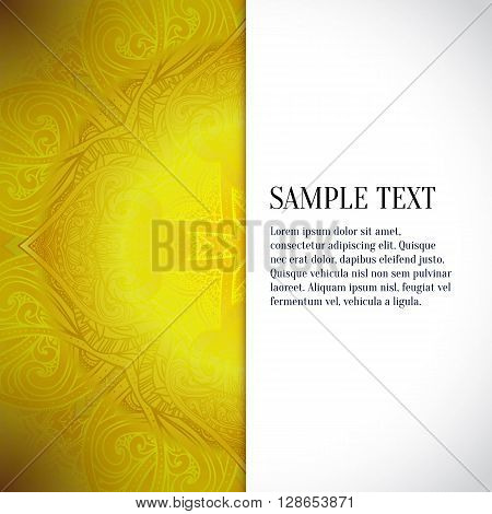 Vector abstract background. Floral pattern gold pattern vector illustration jewelry background. SIlk fabric jacquard fabric damask. Luxury design element for printing and web.