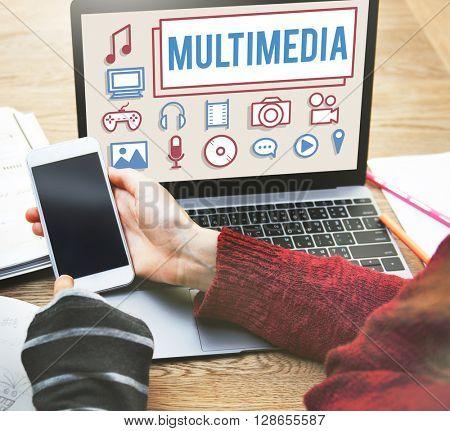 Multimedia Animation Computer Graphics Digital Concept