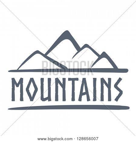 Mountains logo, vector illustration