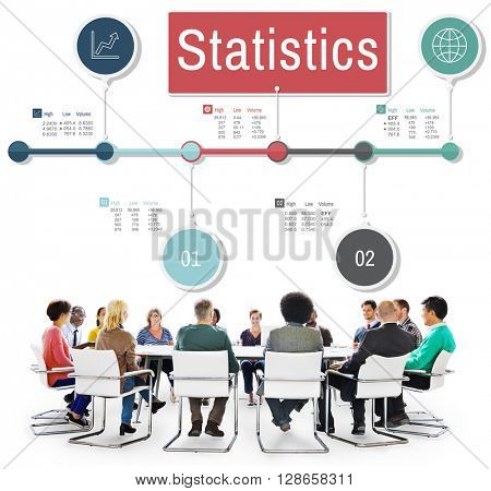 Statistics Research Report Data Information Chart Concept