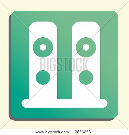 Speakers Icon In Vector Format. Premium Quality Speakers Symbol. Web Graphic Speakers Sign On Green