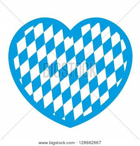 a blue and white heart for Oktoberfest