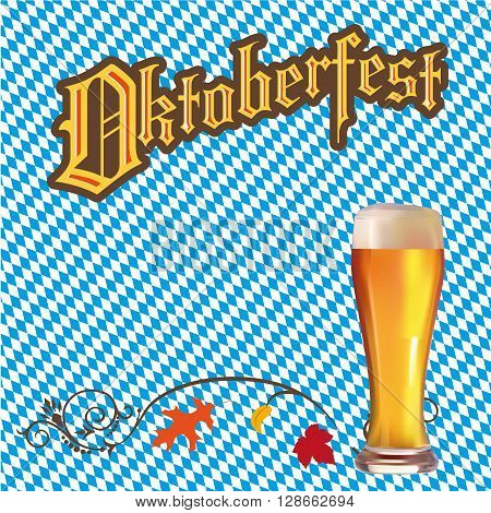 a background for the Oktoberfest with beer