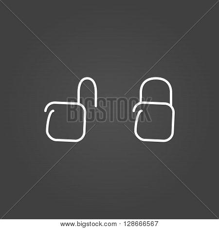 Lock unlock icons draw effect. Vector illustration.