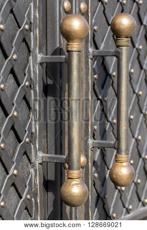 View individual wrought- iron gate elements (black)