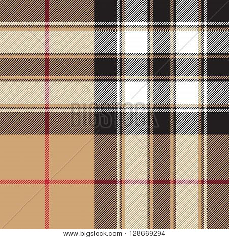 Pride of scotland gold tartan fabric texture seamless pattern .Vector illustration. EPS 10. No transparency. No gradients.