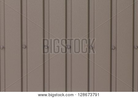 Fence made of galvanized sheet metal (brown)