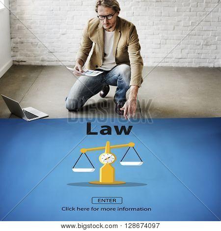 Law Legal Control Court Regulations Control Concept