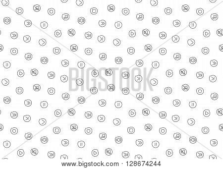Sound voice multimedia seamless background. Vector illustration. EPS 10.