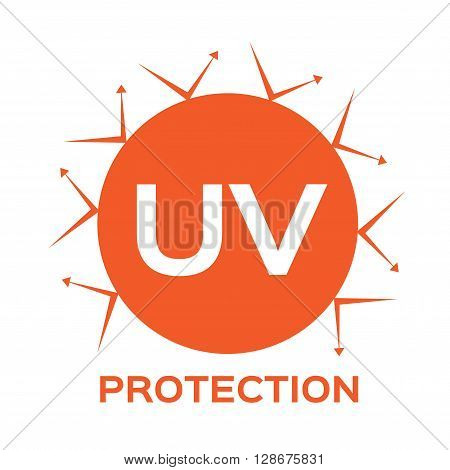 uv protection logo , icon on white background