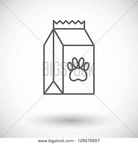 Pet food bag icon. Thin line flat vector related icon for web and mobile applications. It can be used as - logo, pictogram, icon, infographic element. Vector Illustration.
