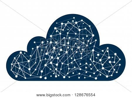 Cloud computing concept world internet comunication network