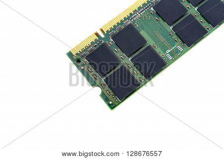 closeup details of computer memory (RAM) .