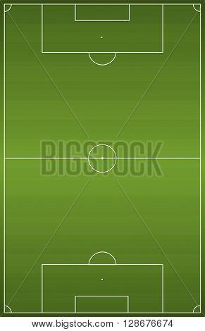 Green football soccer field. Vector illustration background