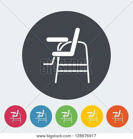 Chair for baby icon. Flat vector related icon for web and mobile applications.