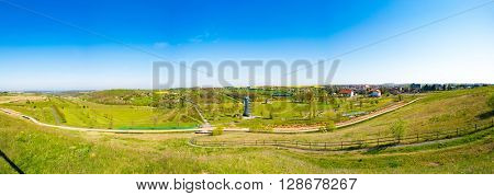 Ronneburg, Germany - May 05, 2016 : Park