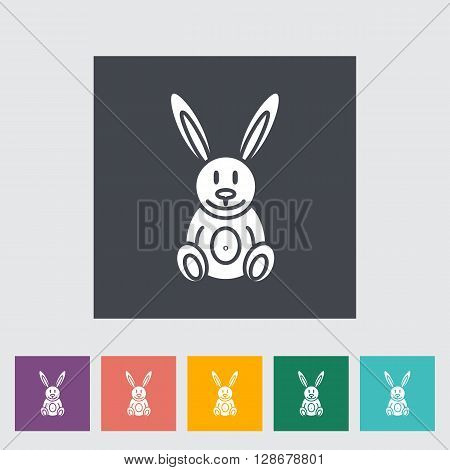 Rabbit toy icon. Flat vector related icon for web and mobile applications. It can be used as - logo, pictogram, icon, infographic element. Vector Illustration.