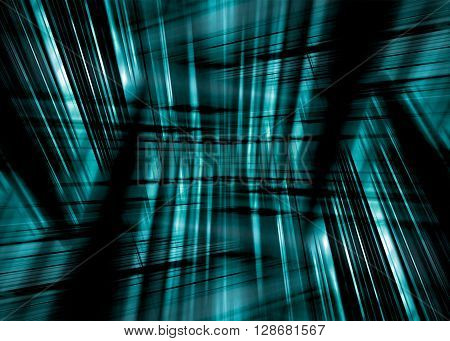 A dynamic black and blue streaked background