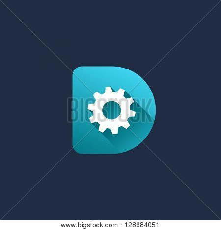 Letter D Technology Logo Icon Design Template Elements