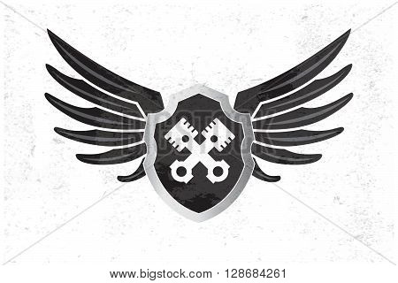 Automotive Wing  Logo. Vector Illustration