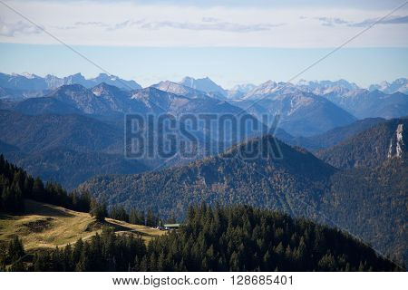 view from wendelstein, bavaria, germany , mountain